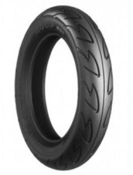 Pneus Bridgestone 90/90-10 50J B 01 • Efficacité énergétique :  • Classe d'adhérence sur route mouillée :  • Classe de bruit de roulement :  • Bruit de roulement extérieur : 0 • Catégorie de pneus :