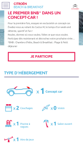 Concept car cactus m Citroën beach and breakfast
